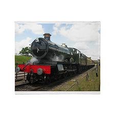 Railway gifts, steam train Throw Blanket
