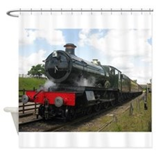 railway train Shower Curtain