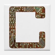 C Circuit Tile Coaster