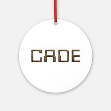 Cade Circuit Round Ornament