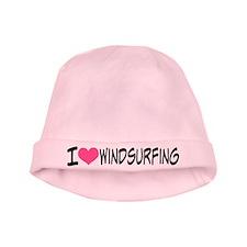 I Heart Windsurfing baby hat