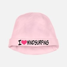 I Heart Windsurfing baby hat