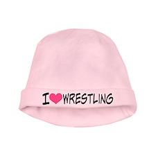 I Heart Wrestling baby hat