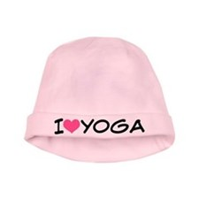 I Heart Yoga baby hat