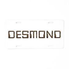 Desmond Circuit Aluminum License Plate