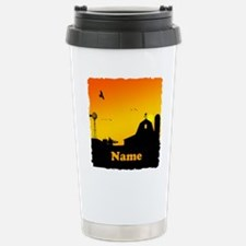 Sunrise at the Farm Stainless Steel Travel Mug