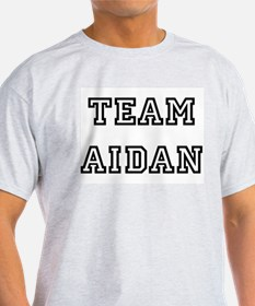 TEAM AIDAN Ash Grey T-Shirt