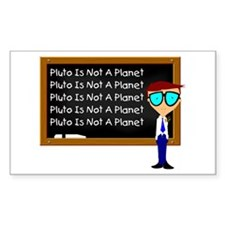 Pluto Is Not A Planet Rectangle Decal