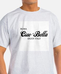 Ciao Bella ROMA Ash Grey T-Shirt