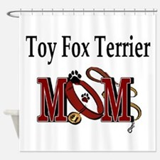 Toy Fox Terrier Mom Shower Curtain