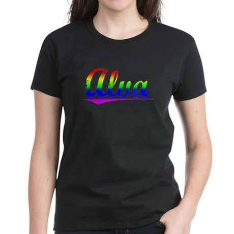 Alva, Rainbow, Women's Dark T-Shirt