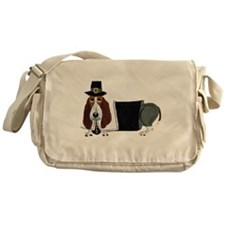 Basset Hound Thanksgiving Pilgrim Messenger Bag