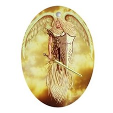 Archangel Michael Ornament (Oval)