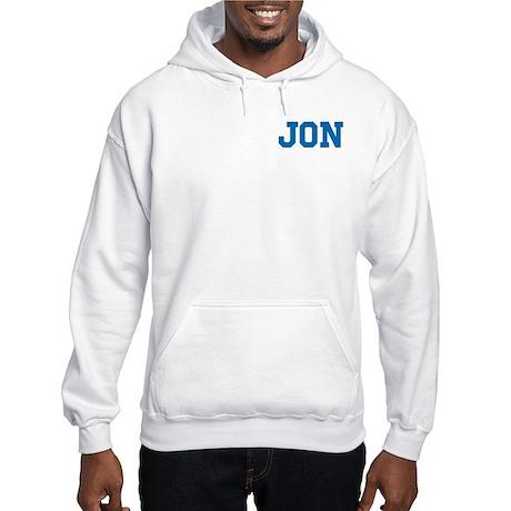 Jon centered Hooded Sweatshirt