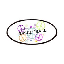 Colored Peace Signs Basketball Patches
