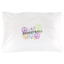 Colored Peace Signs Basketball Pillow Case