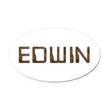 Edwin Circuit Oval Car Magnet