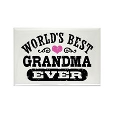World's Best Grandma Ever Rectangle Magnet