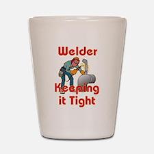 The Welder Shot Glass