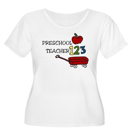 Preschool Teacher Women's Plus Size Scoop Neck T-S