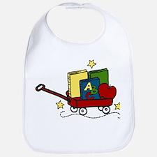 Book Wagon Bib
