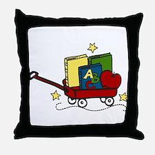 Book Wagon Throw Pillow