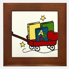 Book Wagon Framed Tile