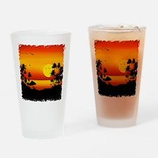 Island Sunset Drinking Glass