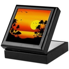 Island Sunset Keepsake Box