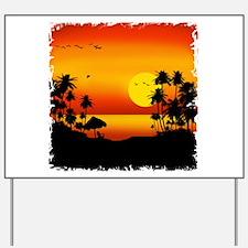 Island Sunset Yard Sign