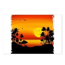 Island Sunset Postcards (Package of 8)