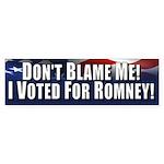 Don't Blame Me Sticker (Bumper 10 pk)