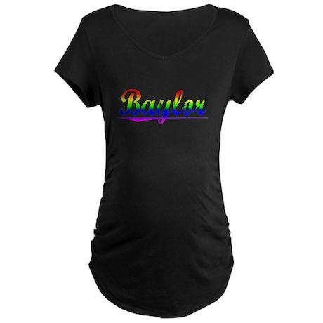 Baylor, Rainbow, Maternity Dark T-Shirt