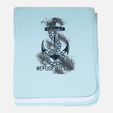 Refuse to Sink baby blanket