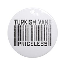 Turkish Vans Priceless Ornament (Round)