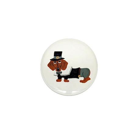 Dachshund Thanksgiving Pilgrim Mini Button