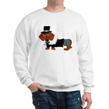 Dachshund Thanksgiving Pilgrim Sweatshirt