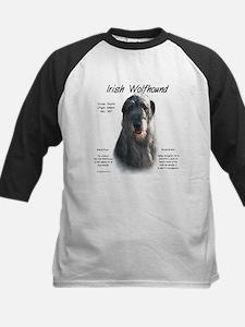 Grey Irish Wolfhound Kids Baseball Jersey