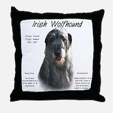 Grey Irish Wolfhound Throw Pillow