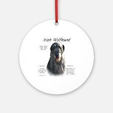 Grey Irish Wolfhound Ornament (Round)