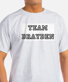 TEAM BRAYDEN Ash Grey T-Shirt