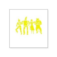 "Wizard of Oz Stencil Art Square Sticker 3"" x 3"""