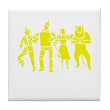Wizard of Oz Stencil Art Tile Coaster