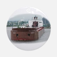 Paul R. Tregurtha departing Duluth Ornament (Round