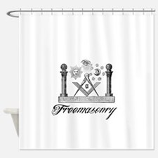 Freemasonry Symbolism Shower Curtain