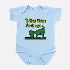 T-Rex hates push-ups Infant Bodysuit