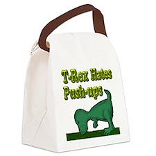 T-Rex hates push-ups Canvas Lunch Bag