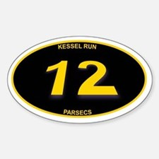 Kessel Run 12 Parsecs Sticker (Oval)