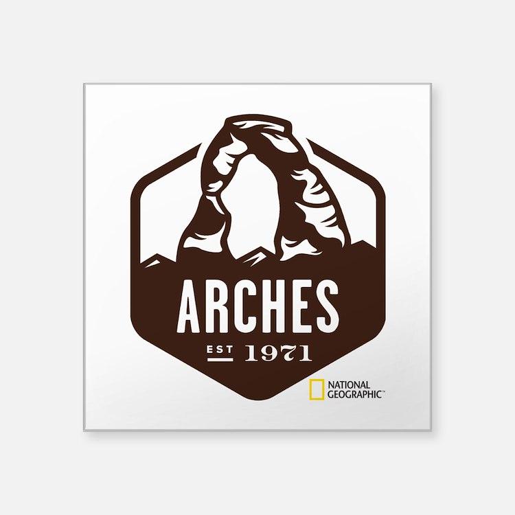 """Arches Square Sticker 3"""" x 3"""""""