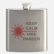 Laser Keep Calm Flask